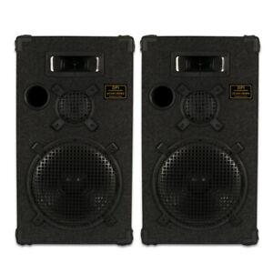 "GOLDWOOD DPI-1200C/8 Passive 12"" Speaker Pair 3-Way PA DJ Karaoke Home"