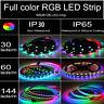 5V 5050 WS2812B RGB LED Strip 1-5M 30 60 144 150 300 Leds Individual Addressable
