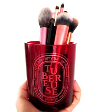 Empty Diptyque Tubereuse Glass Candle Jar. Deep Red Container Pot 300g Size