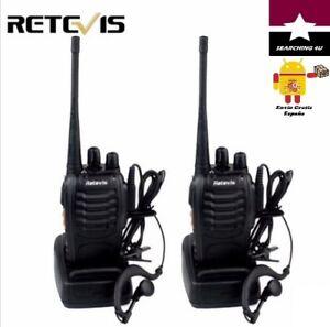 x2 WALKIE TALKIE RETEVIS 5W UHF 400-470Mhz de Frecuencia de Radio 2 VÍAS. ESPAÑA