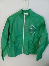 "1984 OLYMPIC GAMES  JACKET, ""OFFICIAL STAFF UNIFORM ""  BRIGHT GREEN, SIZE  XS"