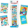 Pack 3 Childrens Assorted Classic Travel Card Games Snap Pairs Old Maid