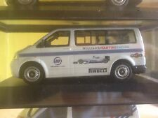 VW VOLKSWAGEN TRANSPORTER WILLIAMS F1 MARTINI RACING TEAM 1/43 MODELCAR IN BOX