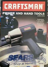 VINTAGE SEARS CRAFTSMAN POWER AND HAND TOOLS CATALOG 1998-1999