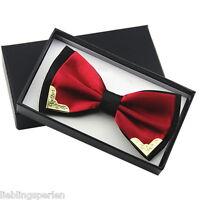 L/P Herren Fliege Hochzeit Business Smoking Schleife Verstellbar Metall Rot