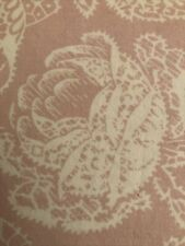 1- Vintage Seventeen Brand 100% Cotton Twin Sheet. Pink/white Floral Lace Look.
