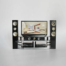 "1:6 Scale TV DVD Speaker Set Plastic Model Home Theater Fits 12""in Action Figure"