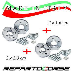 KIT 4 DISTANZIALI 16+20mm REPARTOCORSE - TOYOTA YARIS II - 100% MADE IN ITALY