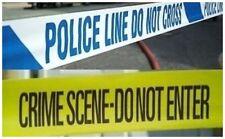 Paquete Doble de 1 X 3 metros línea de policía no cruza Cinta & Cinta de escena del crimen