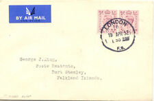 "GB 1952 First Flight ""SOUTHAMPTON - PORT STANLEY"" LAST DAY POSTAGE RATE @LOOK@"
