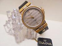 Watch Orologio BULOVA Quartz Longchamp Swiss Placcato oro - Nuovo anni 70/80