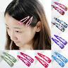 10Pcs  Sheet Multicolour Hair Snap Clips Claws Women's Girls Hair Accessories
