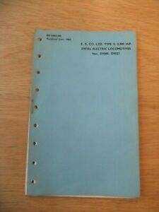 British Railways BR33003/89 - Class 55 Deltic Fault Finding Manual 1962