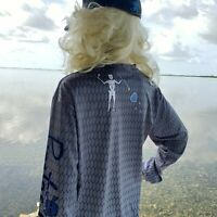 PIRATE'S LIFE BRAND FISHING/BOATING BLACKBEARD LONG SLEEVE QUICK DRY UV SHIRT