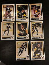 1986-87 O-Pee-Chee  PITTSBURGH PENGUINS 8  card team  lot