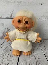 "Vintage 1960's Thomas Dam 5.5"" Troll Doll Original Mohair Amber Eyes"