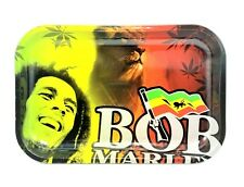 Bob Marley Lion with Flag Metal Rolling Tray 11.25x7.5 inches USA SELLER