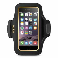 Belkin Ajustado PLUS Brazalete de fitness para Apple iPhone 6 6s negro/dorado