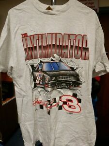 Dale Earnhardt The Intimidator NASCAR L Gray T Shirt 102119AME2
