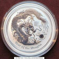 2012 50 Cents 1/2 oz. Australia Silver Lunar Year of the Dragon Half Ounce Coin