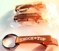 Shock Top Beer bottle Openers Metal Keychains Key Ring SET of 3 Pocket size