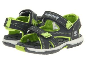 TIMBERLAND MAD RIVER GRAY GREEN BOY SANDALS SIZE 5T  21 BNWOB