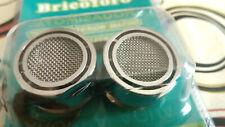 2X Filtro grifo atomizador cromado Aireador economizador roscador macho 21 mm