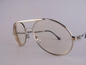 Vintage 80s Bugatti 02926 Eyeglasses Frames Size 56 Men's Large Made in France