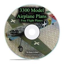 3,300 Free Flight Model Airplane Aircraft Plans, RC, Remote Control, PDF DVD I27