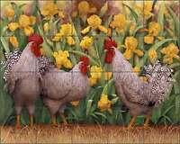 Rooster Tile Backsplash Marcia Matcham Ceramic Mural RW-MM005