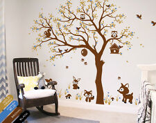 Tree wall decals unisex animal stickers wall decals wall tattoos baby KR083_1