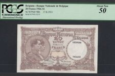 BELGIUM • 20 Francs •17/8/1931 • AUNC • PCGS 50 washed