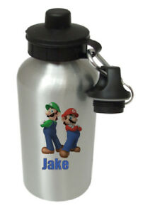 Mario Brothers - Personalised Kids/Drinks/Sports Childrens Water Bottle