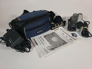 Panasonic PV-GS34 Mini DV Cammcorder 30x Optical/1000x Digital Zoom Bndle TESTED