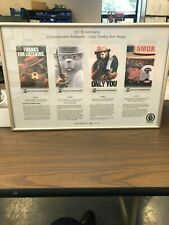 Smokey Bear 75th Birthday Limited Edition Bookmark Set Framed - 1,250 Sets Made
