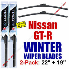 WINTER Wiper Blades 2-Pack Premium - fit 2009-2014 Nissan GT-R GTR - 35220/35190