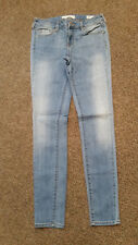 WOMENS JUNIORS 26 BULLHEAD DENIM JEANS CO. lowrise SKINNIEST light blue STRETCH