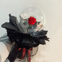 Valentine's Day Birthday Anniversary Gift LED Light Balloon Rose Flower Bouquet