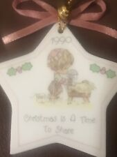 1990 Precious Moments Enesco Star Christmas Is a Time to Share Ornament Nativity