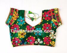 Indian Traditional designer Handmade Blouse- Hand Embroidered Kutch Work Blouse