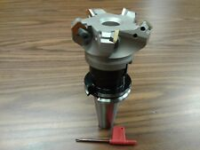 3 45 Degree Indexable Face Shell Mill W Cat40 Arborface Milling Cutter New