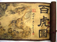 china folk collecton!Chinese Painting Scroll Of Hundred Tigers