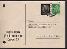 LEIPZIG, Postkarte 1940, Ernst u. Alfred Pallmann
