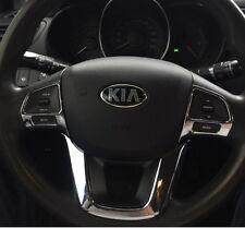 KIA Rio Lenkrad Blenden Abdeckung Clip Steering Wheel Cover Silber Chrom