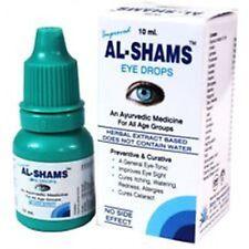 2 x AL SHAMS Eye Drops Herbal Ayurvedic Improves Eyesight General Eye Tonic 10ml