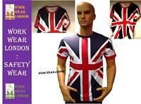 Tour Collection Union Jack Flag T-Shirts XS-S- M-L-XL-XXL London Team GB Mens