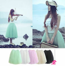 Unbranded Below Knee Solid Skirts for Women