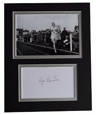 Roger Bannister Signed Autograph 10x8 photo display 4 Minute Mile Athletics COA
