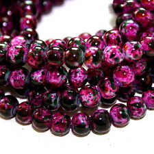 Approx 140pcs/lot 6mm Rose Red Glass Beads for Jewelry Making