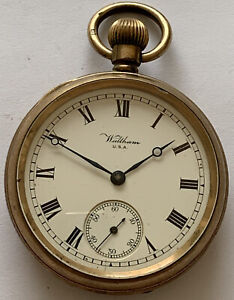 Antique Pocket Watch, Waltham USA